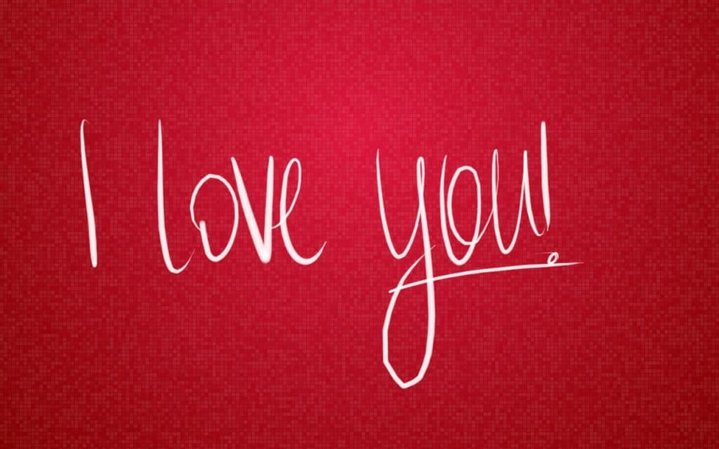 I love you Pictures in Red Romantic Wallpaper