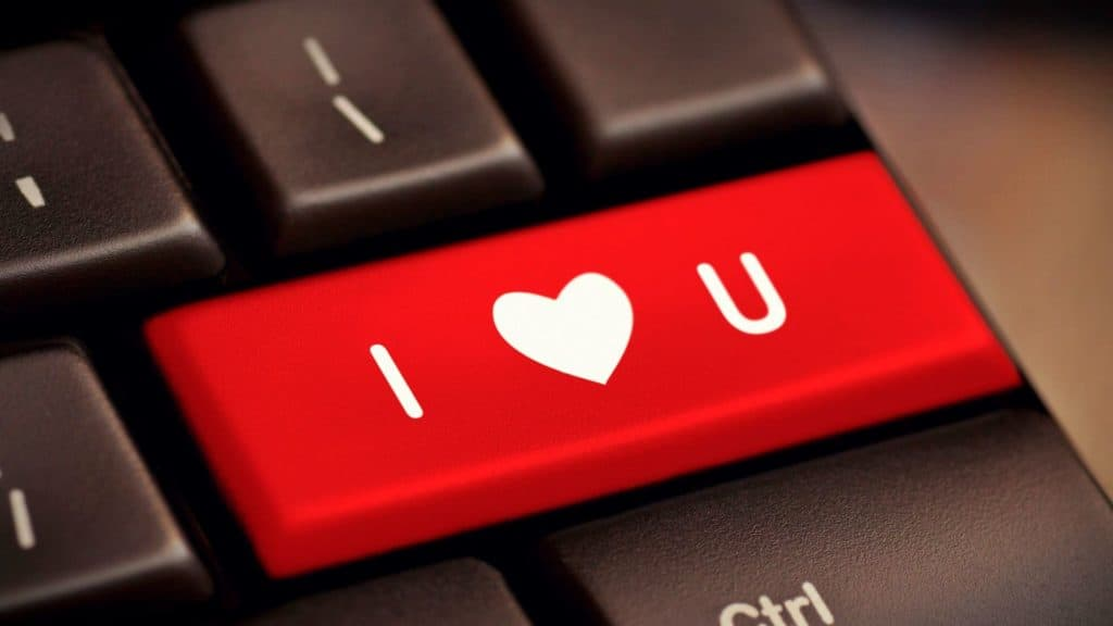 I love you an an Enter Key on a Keyboard