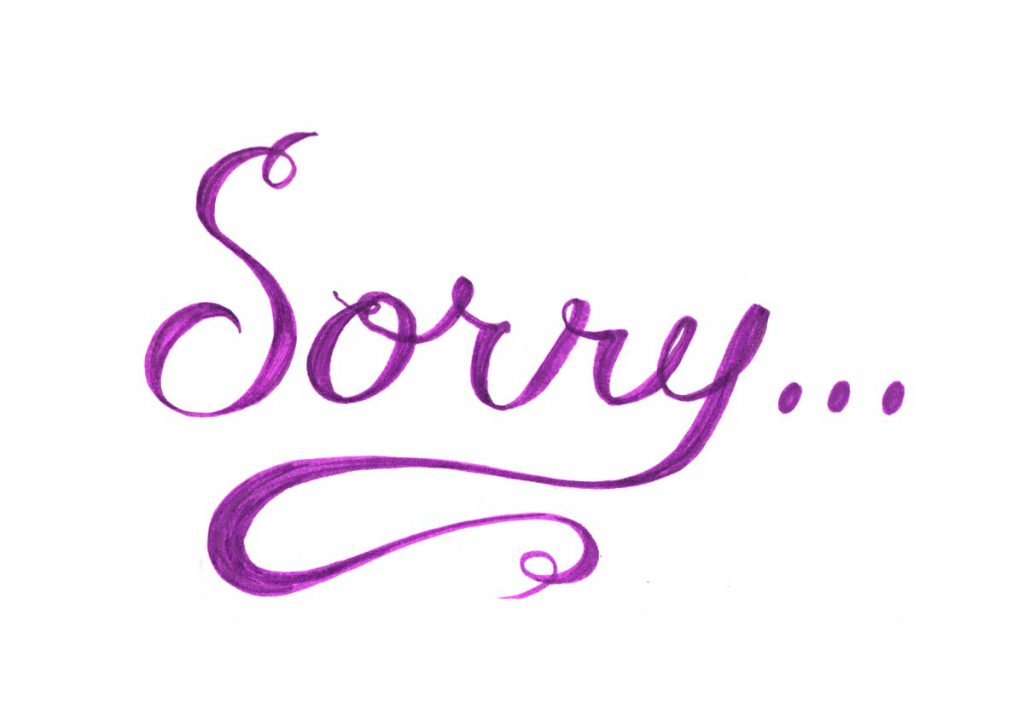 Cuty apology message sorry pictures