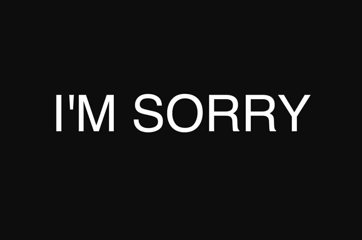 Cute Apology Messages to a Lover with Sorry Images - iLove