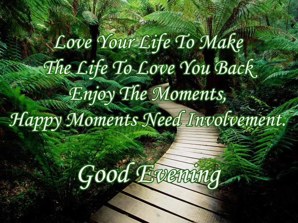 Good evening messages wallpapers