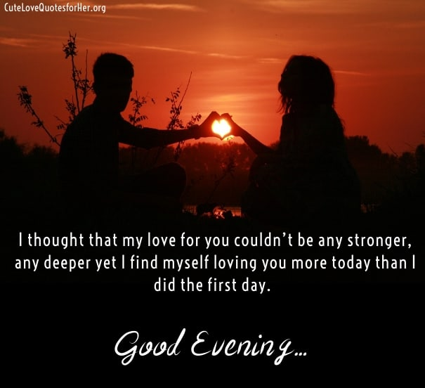 Good evening love quotes sayings greeting images