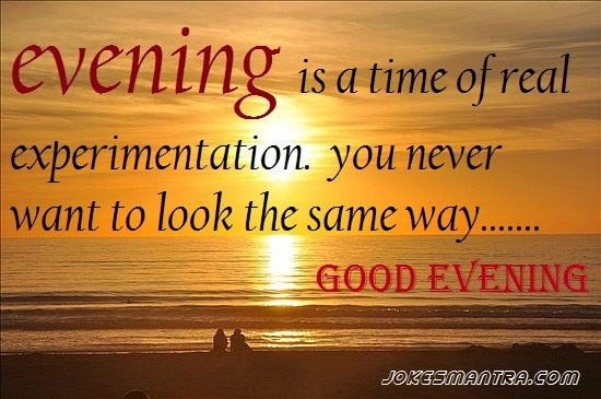 Good evening picture quotes for lovers