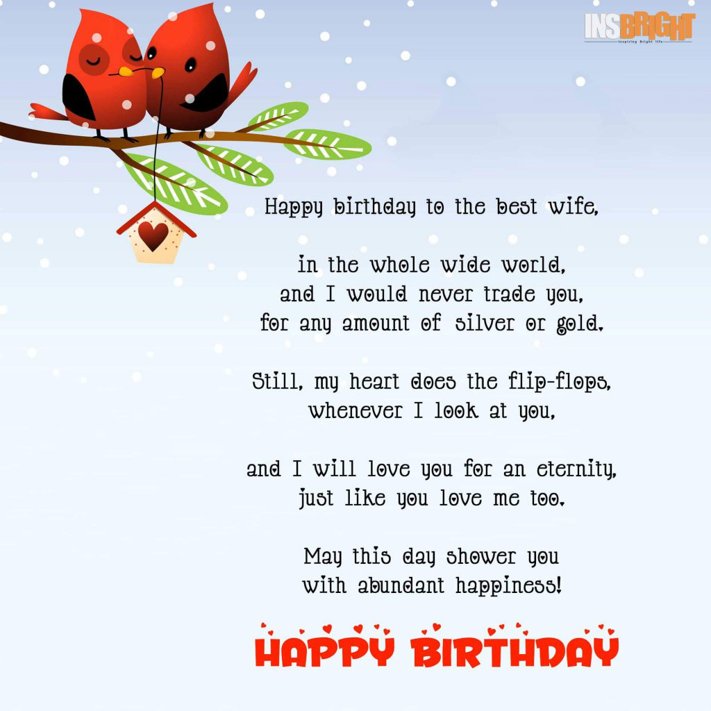 Happy birthday poem for wife