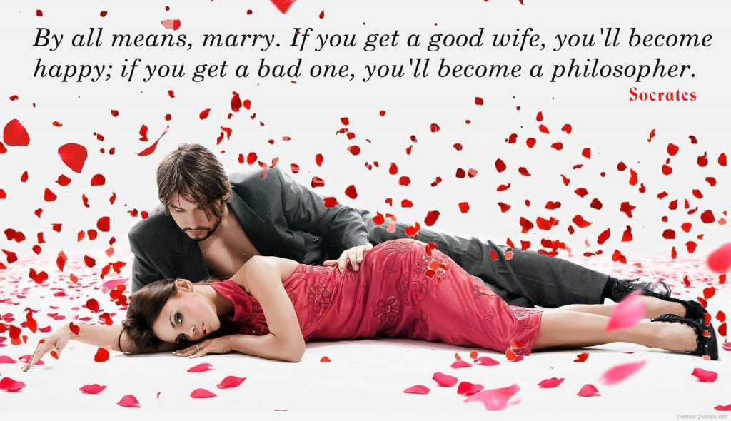 Romantic photos of lovers with quotes