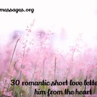 30 romantic short love letters for him from the heart
