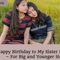 Happy birthday to my sister messages – for big and younger sisters